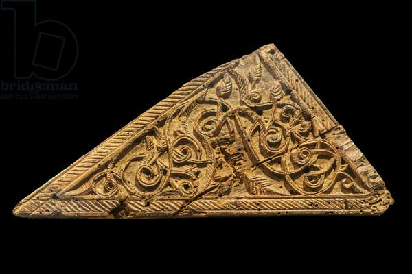 Element of the minbar of the great mosque of Kairouan. Tunisia, second half of the 9th century. Teak carves biface. Louvre Museum