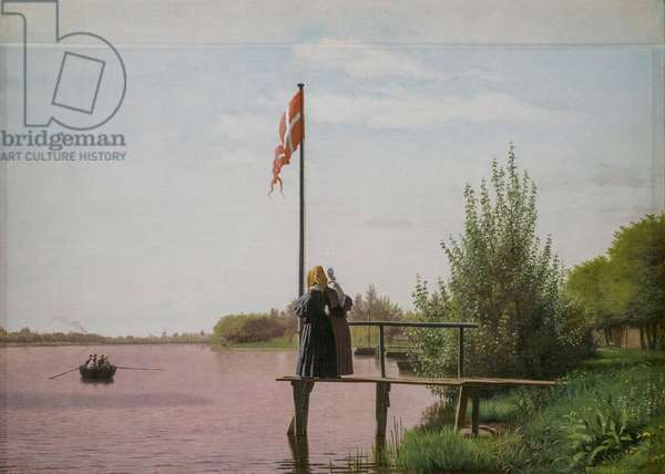 View of Lake Sortedam from Dosseringen looking towards Nerrebro, 1838 (oil on canvas)