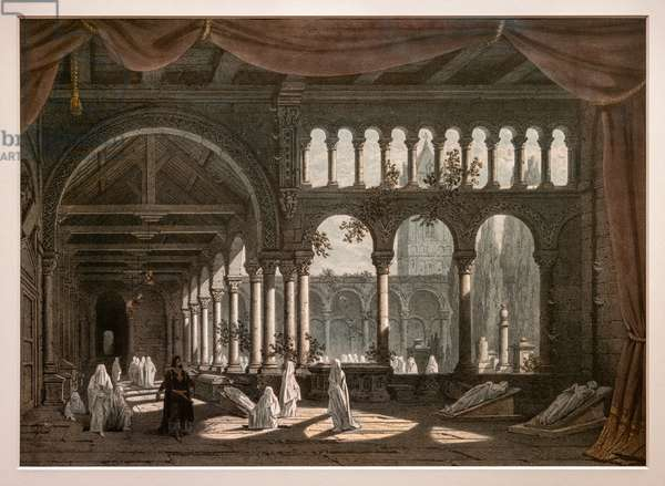 Robert the Devil, decorations for the second painting of Act III. 1831. Lithography