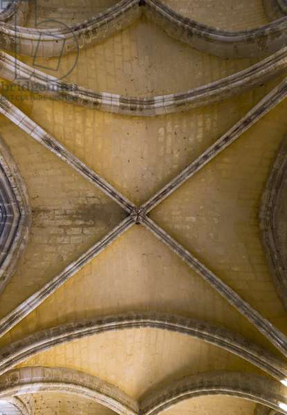 Gothic art: view of a vault of the Cistercian monastery of Royaumont (abbey) 1228-1235 Asnieres-sur-Oise (Asnieres sur Oise), Val-d'Oise (Val d'Oise)