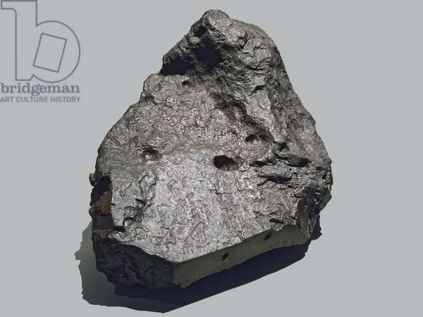 Iron meteorite. Find in La Caille (France) in 1828. National Museum of Natural History, Paris.
