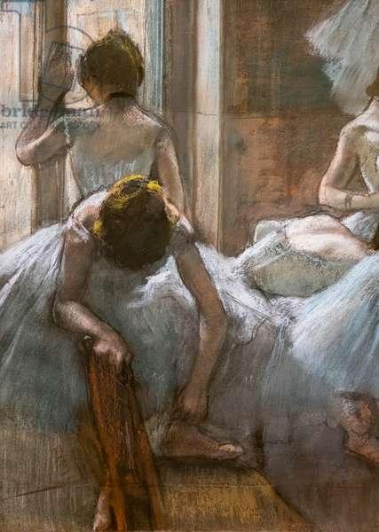 Dancers (detail). 1884-1885. Pastel on paper.