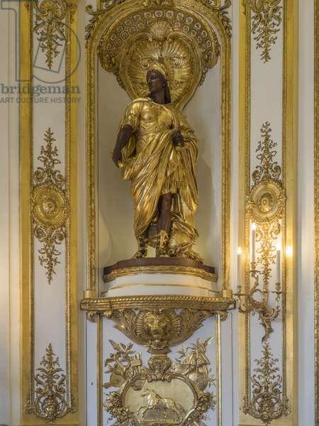 Allegory of Europe. Sculpture by Gabriel Jules Thomas (1824-1905), 19th century. Banque de France. Hotel de Toulouse, former hotel de la Villiere, Paris - Hotel de Toulouse, headquarters of the Banque de France -