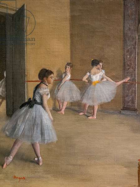 The Dance Lecon (detail). 1872. Oil on canvas.