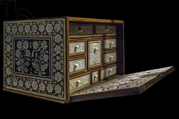Box. Northwest India, circa 1650-1700. Wood, ivory. Musee du Louvre