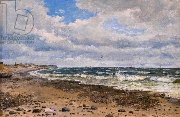 A Beach with Dunes on the West Coast of Jutland, 1843 (oil on canvas)