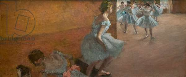 Dancers climbing a staircase. Between 1886 and 1888. Oil on canvas.