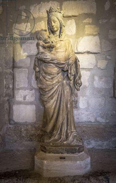 Virgin of Royaumont 14th century sculpture Cistercian monastere of Royaumont (abbey) 1228-1235 Asnieres-sur-Oise (Asnieres sur Oise), Val-d'Oise (Val d'Oise)