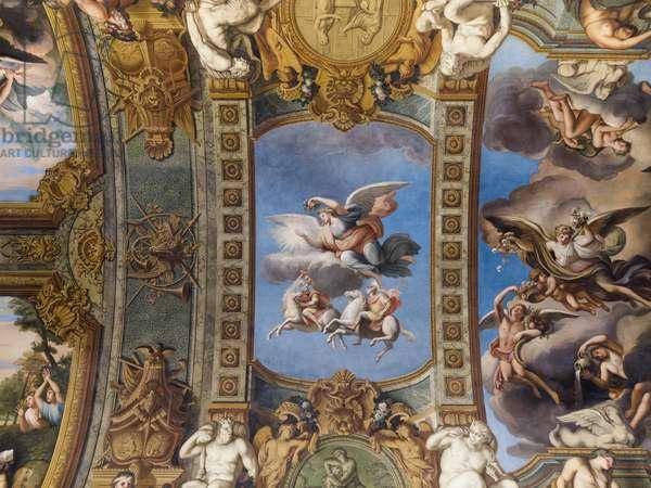 Allegorie du Soleil, fresco of the vault of the Galerie doree, by Francois Perrier (1594-1649), 1645. Banque de France. Hotel de Toulouse, former hotel de la Villiere, Paris - Hotel de Toulouse, headquarters of the Banque de France -