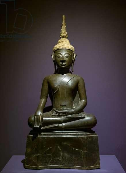 Maravijaya Buddha. Laos, 1792. Bronze.