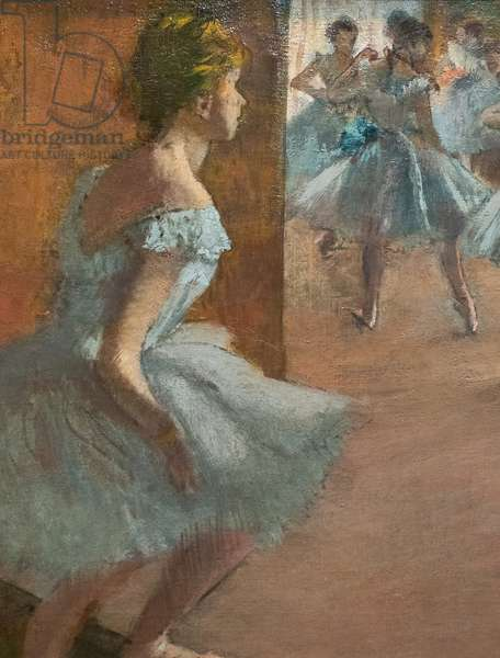 Dancers climbing a staircase (detail). Between 1886 and 1888. Oil on canvas.