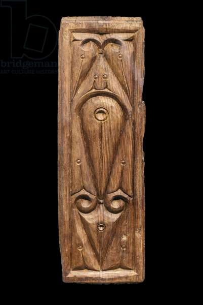 """Woodwork in the """""""" bevel style"""". Egypt, 9th century. Carved pine. Musee du Louvre"""