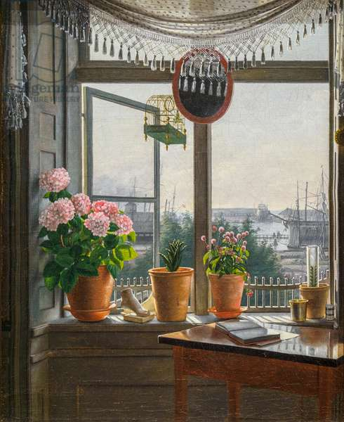 View front the Artist's Window, 1825 (oil on canvas)