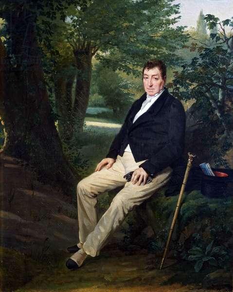 La Fayette in the park of the castle of La Grange, 1830 (oil on canvas)