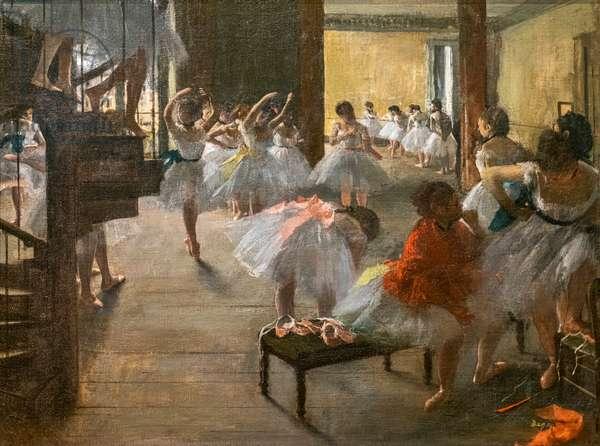 The Dance Class. 1873. Oil on canvas.