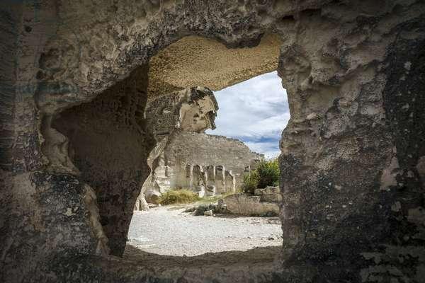 View of the quarries of Les Baux de Provence (Les-Baux-de-Provence) Bouches du Rhone (Bouches-du-Rhone) Photography