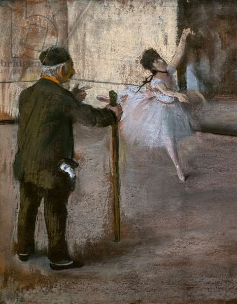 The dance lecon (detail). Around 1876. Pastel on paper glues on cardboard.