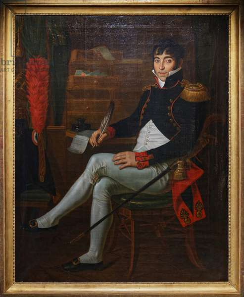Artillery Officer under the Empire, c.1804-15 (oil on canvas)