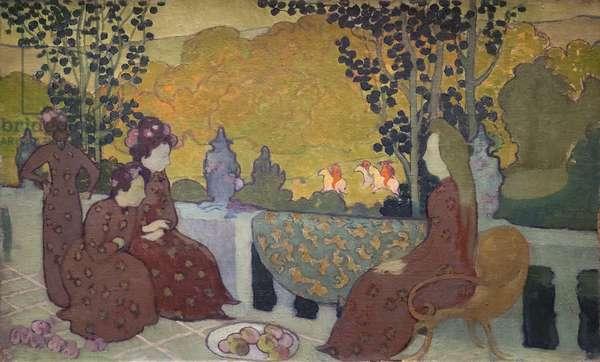September evening: women sitting on the terrace, 1891