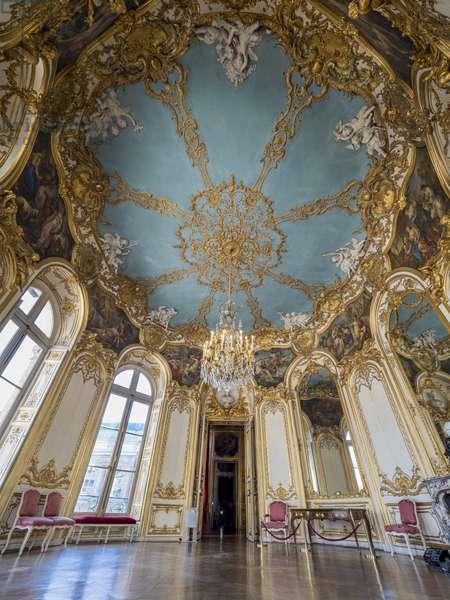 The ceiling of the Princess's Oval Salon, architect Germain Boffrand (1667-1754), 1737. Hotel de Soubise, Paris, 18th century