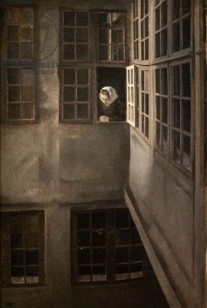 Court, Strandgade 30, 1905 (oil on canvas)