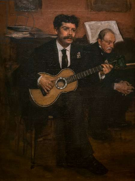 Lorenzo Pagans and Augustus De Gas. Around 1871-72. Oil on canvas.