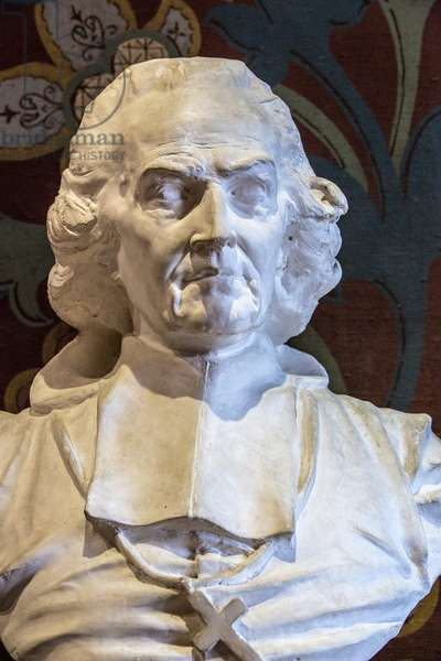 Bust of Henri Jean Baptiste Gregoire (1750-1831), French ecclesiastic and politician Sculpture of Alfred Jean Baptiste (Jean-Baptiste) Halou (1829-1891) circa 1850 Chateau de Blois