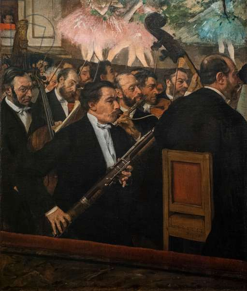 The Opera Orchestra. 1870. Oil on canvas.