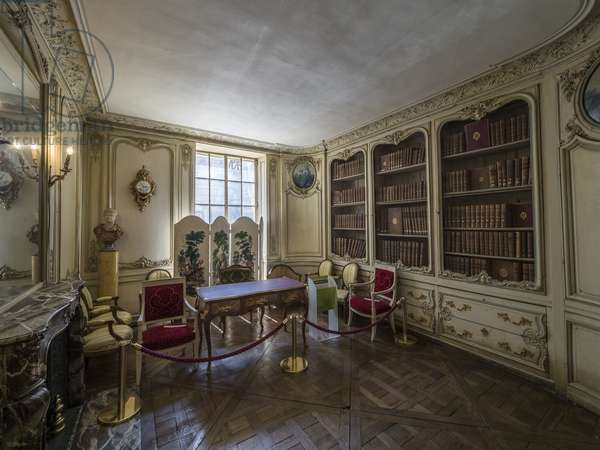 Cabinet of the library prince, architect Germain Boffrand (1667-1754). Hotel de Soubise, Paris, 18th century