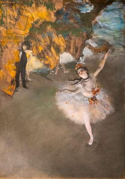 """Ballet (also known as """"L'Etoile""""). 1876-1877. Pastel on monotype."""