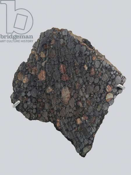 Carbonee chondrite (CBA). Tombee in Gujba (Nigeria) in 1984. National Museum of Natural History, Paris.