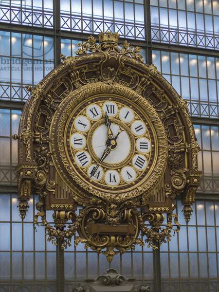 The Orsay Museum. Paris. France - The clock (1900) of the old station - Musee d'Orsay, Paris - Photography 2017