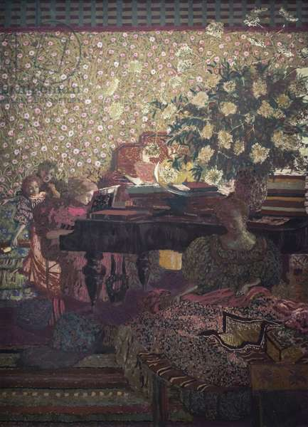 Music (detail of Characters in an interior, 1896)