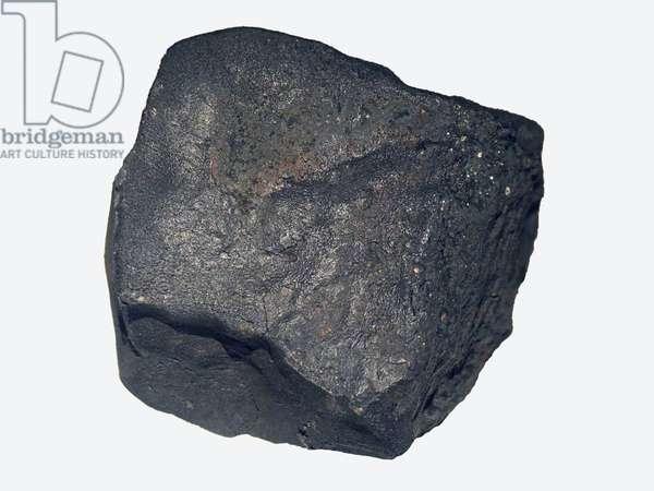 Carbon chondrite (CM). Found in France in Paris in 2001. Museum National Histoire Naturelle de Paris.