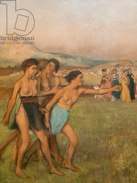 Little Spartan girls provoking boys (detail). Around 1860-1862, resumed before 1880. Oil on canvas