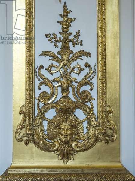 Golden paneling of the Galerie doree, decor by Francois Antoine Vasse (1681-1736), 1715. Banque de France. Hotel de Toulouse, former hotel de la Villiere, Paris - Hotel de Toulouse, headquarters of the Banque de France -