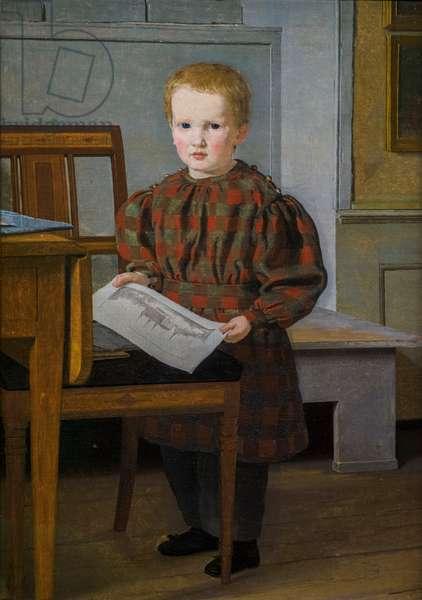 Eckersberg's Son, Julius, in his Father's Studio in Charlottenborg, 1831 (oil on canvas)