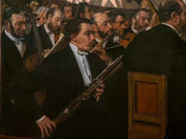 The Opera Orchestra (detail). 1870. Oil on canvas.