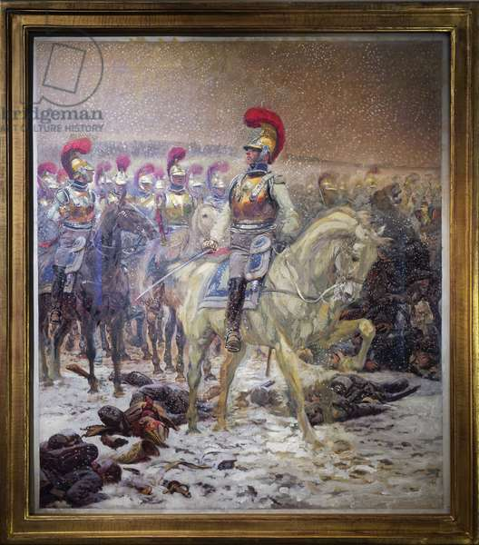Before the charge, the Carabineros took the Battle of Winkowo (or Taroutino, Russia), 18 October 1812, c.1900 (oil on canvas)