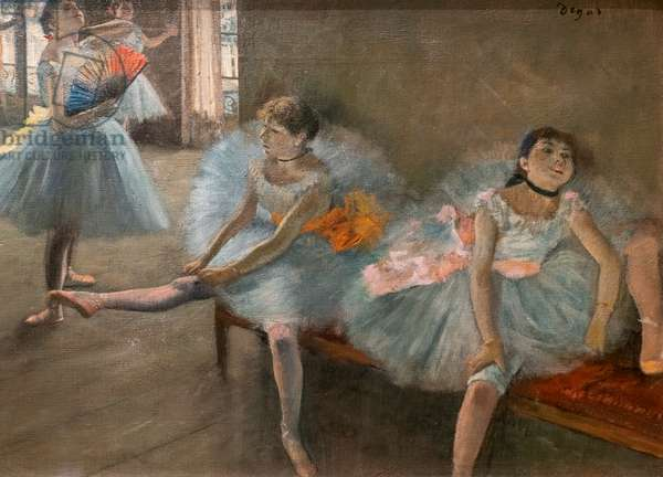 The dance lecon (detail). Around 1880. Oil on canvas.