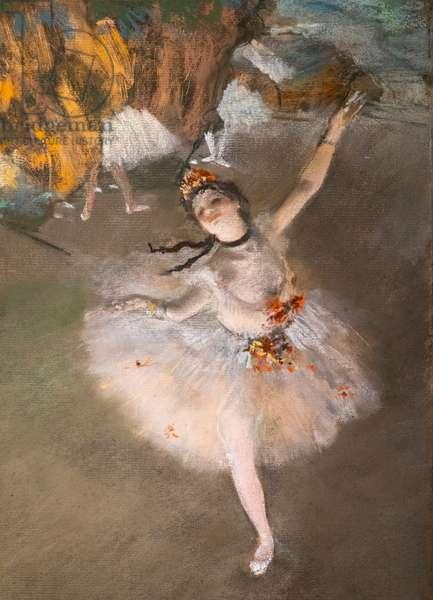 "Ballet (also known as ""L'Etoile"") (detail). 1876-1877. Pastel on monotype."