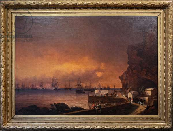 The French squadron at Sainte Helene, 18 October 1840 (oil on canvas)