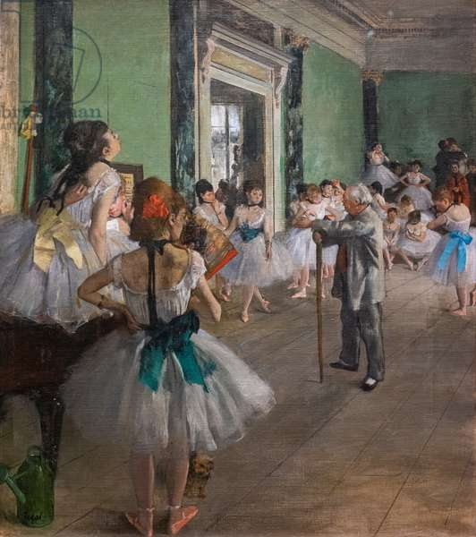 The dance class. Begins in 1873, ends in 1875-1876. Oil on canvas.
