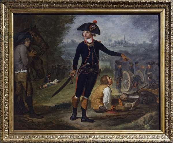 Artillery officer in the siege of a city, c.1795 (oil on canvas)
