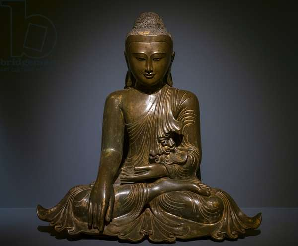 Maravijaya Buddha. Burma (Myanmar). Mandalay period, 19th century. Bronze.