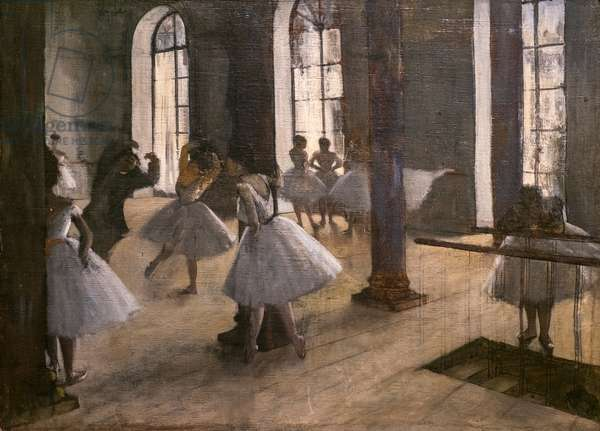 The Repetition at the home of dance. 1873-1875. Oil on canvas.