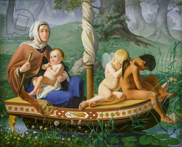 Childhood, from the series The Four Ages of Man, 1840-45 (oil on canvas)