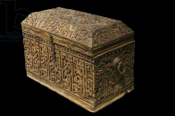 Chest. Morocco, Fes, 14th century. Carved and painted wood. Musee du Louvre