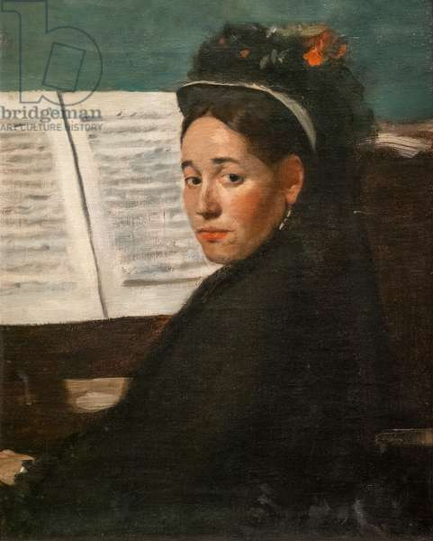 Miss Dihau at the piano. Around 1870. Oil on canvas.