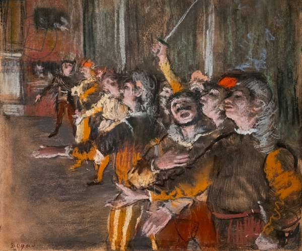 "Chorists (also known as ""The Exponents""). 1877. Pastel on monnotype."